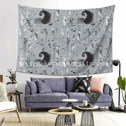 Tapestry Jack & Sally In Stone bedroom Decor Wall Hanging Tapestry For Bedroom Tapestries 80*60 Inch(pp20210327)