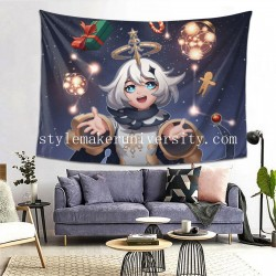 Tapestry Genshin Impact Paimon bedroom Decor Wall Hanging Tapestry For Bedroom Tapestries 80*60 Inch(pp20210327)