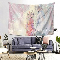 Tapestry Albedo Genshin Impact Lumine game room Decor Wall Hanging Tapestry For Bedroom Tapestries 80*60 Inch(pp20210327)