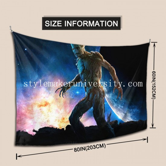 Tapestry Gardiens De La Galaxie game room Decor Wall Hanging Tapestry For Bedroom Tapestries 80*60 Inch(pp20210327)