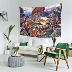 Tapestry Noah's Ark bedroom Decor Wall Hanging Tapestry For Bedroom Tapestries 80*60 Inch(pp20210327)