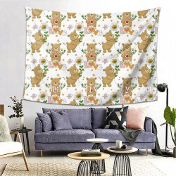 Tapestry Lovely Bears Living room Decor Wall Hanging Tapestry For Bedroom Tapestries 80*60 Inch(pp20210327)