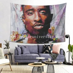 Tapestry Tupac hall Decor Wall Hanging Tapestry For Bedroom Tapestries 80*60 Inch(pp20210327)