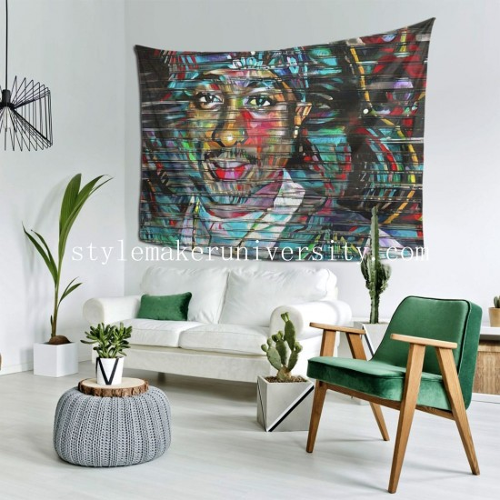 Tapestry Tupac Shakur Living room Decor Wall Hanging Tapestry For Bedroom Tapestries 80*60 Inch(pp20210327)