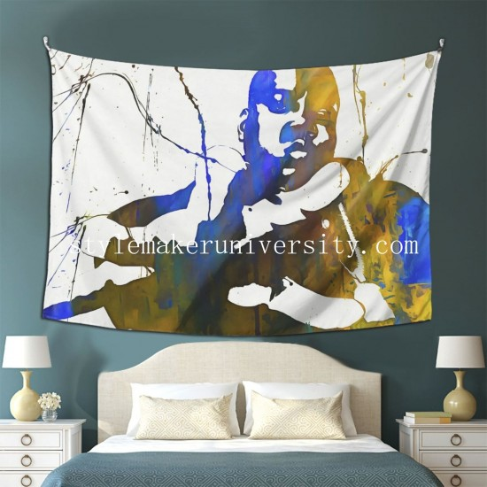 Tapestry Notorious Big Paint Splatter Living room Decor Wall Hanging Tapestry For Bedroom Tapestries 80*60 Inch(pp20210327)