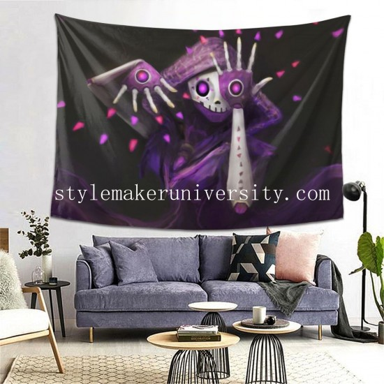 Tapestry Overwatch Sombra hall Decor Wall Hanging Tapestry For Bedroom Tapestries 80*60 Inch(pp20210327)