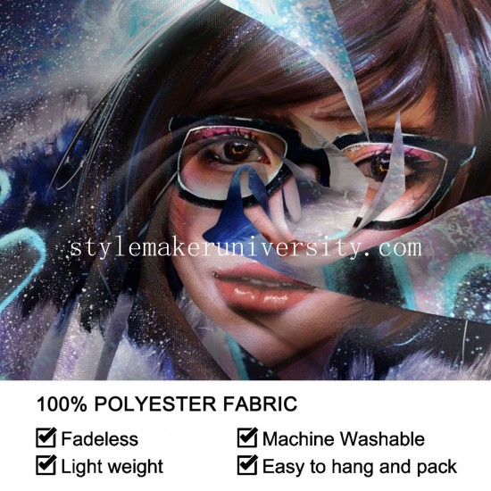Tapestry Mei Overwatch game room Decor Wall Hanging Tapestry For Bedroom Tapestries 80*60 Inch(pp20210327)