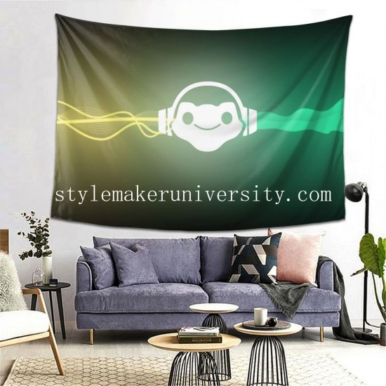 Tapestry Blizzard Entertainment Lúcio Overwatch bedroom Decor Wall Hanging Tapestry For Bedroom Tapestries 80*60 Inch(pp20210327)