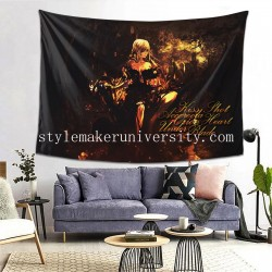 Tapestry Kiss-shot Acerola-orion Heart-under-blade Shinobu Oshino game room Decor Wall Hanging Tapestry For Bedroom Tapestries 80*60 Inch(pp20210327)