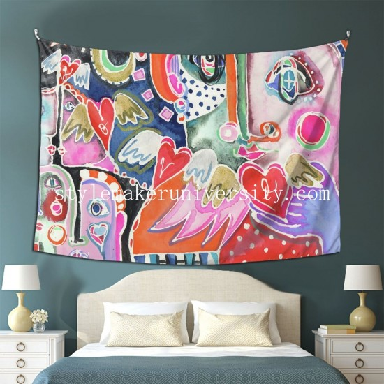 Tapestry Love From Far And Wide Living room Decor Wall Hanging Tapestry For Bedroom Tapestries 80*60 Inch(pp20210327)