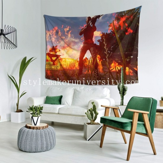 Tapestry Playerunknown's Battlegrounds hall Decor Wall Hanging Tapestry For Bedroom Tapestries 80*60 Inch(pp20210327)