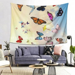 Tapestry Butterfly Living room Decor Wall Hanging Tapestry For Bedroom Tapestries 80*60 Inch(pp20210327)