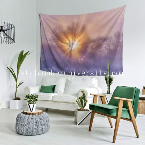 Tapestry The Rising Living room Decor Wall Hanging Tapestry For Bedroom Tapestries 80*60 Inch(pp20210327)