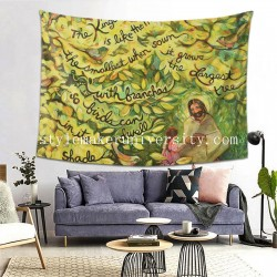 Tapestry The Mustard Seed hall Decor Wall Hanging Tapestry For Bedroom Tapestries 80*60 Inch(pp20210327)