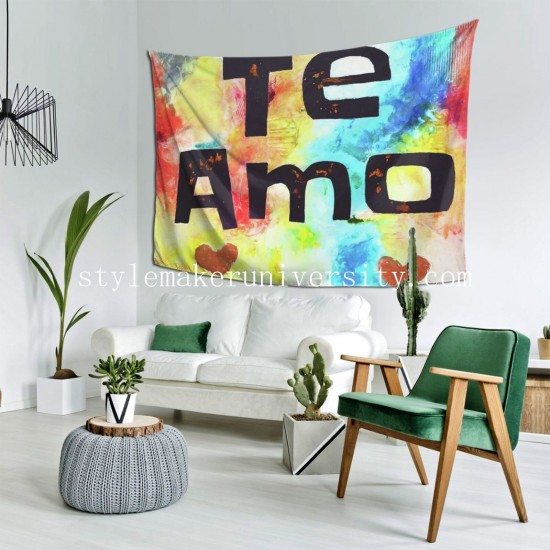 Tapestry Te Amo hall Decor Wall Hanging Tapestry For Bedroom Tapestries 80*60 Inch(pp20210327)
