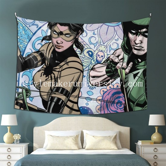 Tapestry DC Comics Green Arrow Living room Decor Wall Hanging Tapestry For Bedroom Tapestries 80*60 Inch(pp20210327)