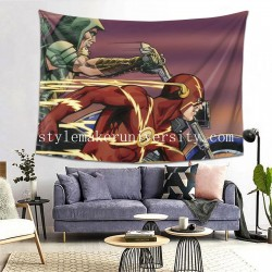 Tapestry Arrow Comic DC Comics Flash Green Arrow game room Decor Wall Hanging Tapestry For Bedroom Tapestries 80*60 Inch(pp20210327)