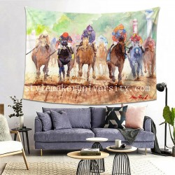 Tapestry Race Day Living room Decor Wall Hanging Tapestry For Bedroom Tapestries 80*60 Inch(pp20210327)