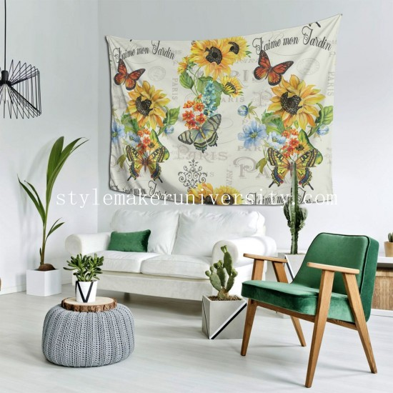 Tapestry Jaime Mon Jardin hall Decor Wall Hanging Tapestry For Bedroom Tapestries 80*60 Inch(pp20210327)
