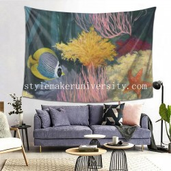 Tapestry Coastal Reef II Living room Decor Wall Hanging Tapestry For Bedroom Tapestries 80*60 Inch(pp20210327)