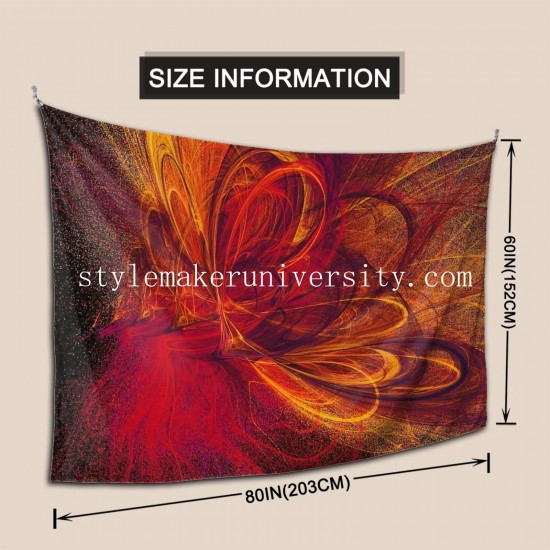 Tapestry Butterfire hall Decor Wall Hanging Tapestry For Bedroom Tapestries 80*60 Inch(pp20210327)