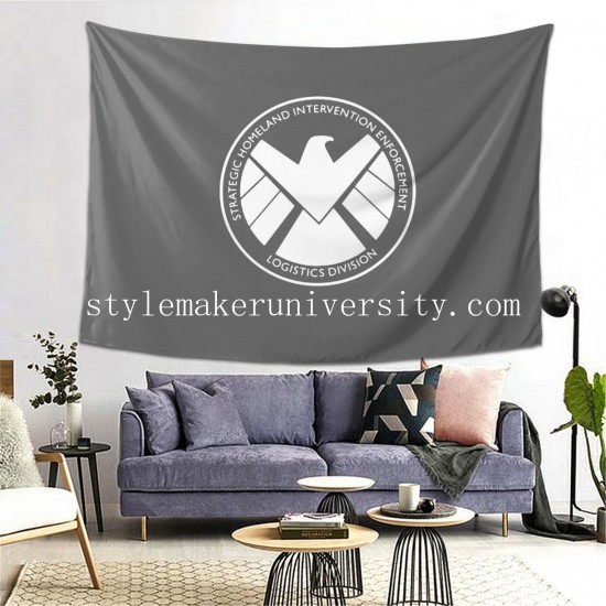 Tapestry Vintage Man_s Top Marvel Agents Of Shield Captain America Thor Iron Man Fallout America Trump game room Decor Wall Hanging Tapestry For Bedroom Tapestries 80*60 Inch(pp20210327)