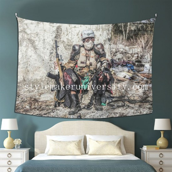 Tapestry Post Apocalyptic Survivor Creature bedroom Decor Wall Hanging Tapestry For Bedroom Tapestries 80*60 Inch(pp20210327)
