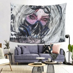 Tapestry Lady Fallout Living room Decor Wall Hanging Tapestry For Bedroom Tapestries 80*60 Inch(pp20210327)