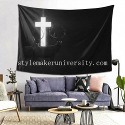 Tapestry Animaux Croix Sombre game room Decor Wall Hanging Tapestry For Bedroom Tapestries 80*60 Inch(pp20210327)
