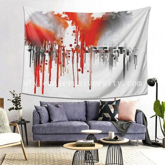 Tapestry Music Rammstein Band Music Germany bedroom Decor Wall Hanging Tapestry For Bedroom Tapestries 80*60 Inch(pp20210327)