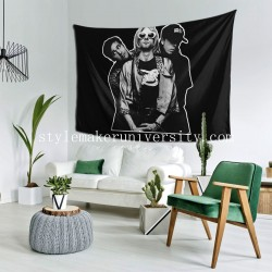 Tapestry Nirvana Living room Decor Wall Hanging Tapestry For Bedroom Tapestries 80*60 Inch(pp20210327)