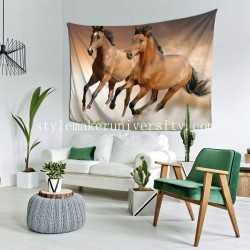 Tapestry Running Horse game room Decor Wall Hanging Tapestry For Bedroom Tapestries 80*60 Inch(pp20210327)