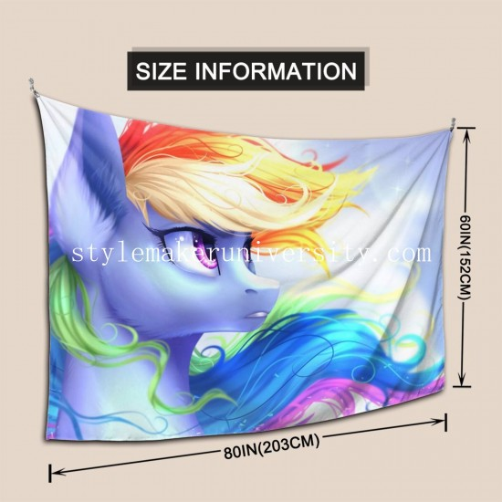 Tapestry My Little Pony Rainbow Dash hall Decor Wall Hanging Tapestry For Bedroom Tapestries 80*60 Inch(pp20210327)