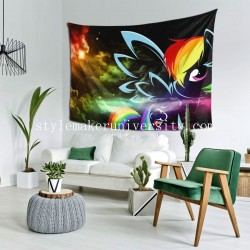 Tapestry My Little Pony Rainbow Dash Vecteur bedroom Decor Wall Hanging Tapestry For Bedroom Tapestries 80*60 Inch(pp20210327)