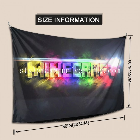 Tapestry Jeux Vidéo Minecraft Mojang Living room Decor Wall Hanging Tapestry For Bedroom Tapestries 80*60 Inch(pp20210327)