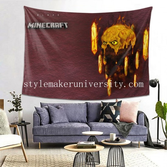 Tapestry Blaze Feu Minecraft Living room Decor Wall Hanging Tapestry For Bedroom Tapestries 80*60 Inch(pp20210327)