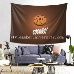 Tapestry Brown Cookie Minecraft game room Decor Wall Hanging Tapestry For Bedroom Tapestries 80*60 Inch(pp20210327)