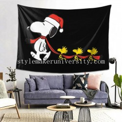 Tapestry Peanuts Snoopy And Woodstock Holiday game room Decor Wall Hanging Tapestry For Bedroom Tapestries 80*60 Inch(pp20210327)