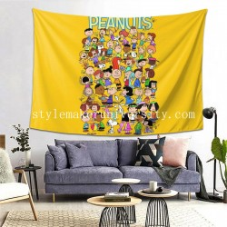 Tapestry Charlie Brown Snoopy bedroom Decor Wall Hanging Tapestry For Bedroom Tapestries 80*60 Inch(pp20210327)