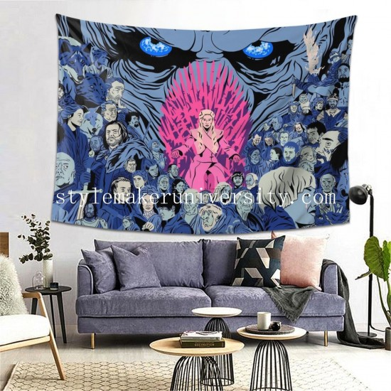 Tapestry Game Of Thrones Living room Decor Wall Hanging Tapestry For Bedroom Tapestries 80*60 Inch(pp20210327)