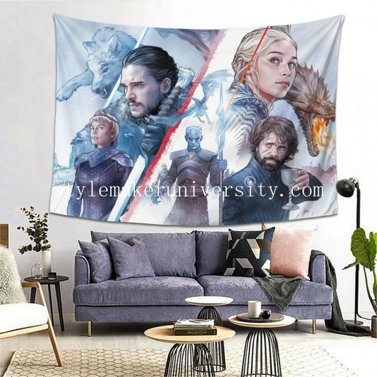 Tapestry Game Of Thrones hall Decor Wall Hanging Tapestry For Bedroom Tapestries 80*60 Inch(pp20210327)