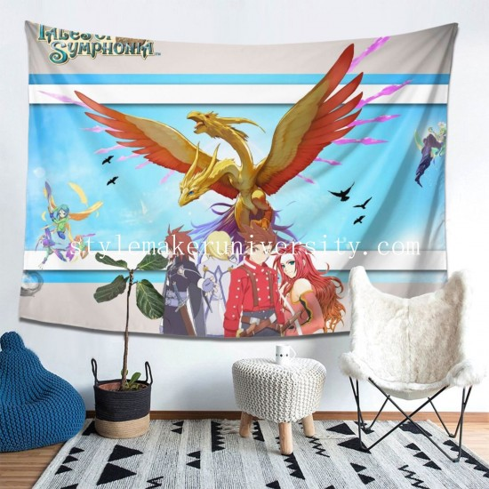 Tapestry Anime Tales Of Symphonia Living room Decor Wall Hanging Tapestry For Bedroom Tapestries 80*60 Inch(pp20210327)