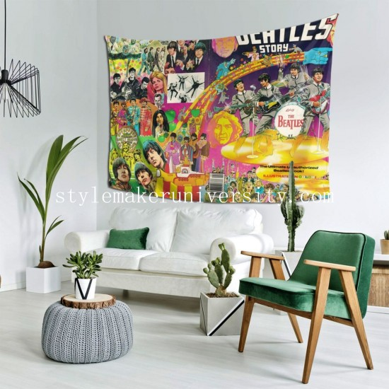 Tapestry The Beatles bedroom Decor Wall Hanging Tapestry For Bedroom Tapestries 80*60 Inch(pp20210327)