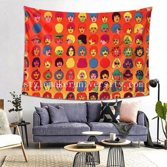 Tapestry The Beatle Living room Decor Wall Hanging Tapestry For Bedroom Tapestries 80*60 Inch(pp20210327)