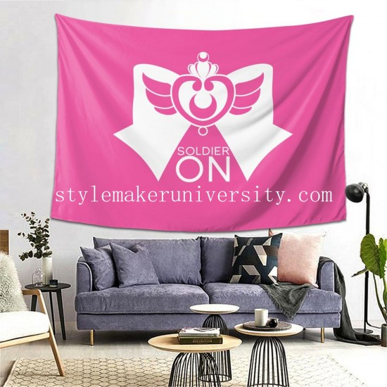 Tapestry Sailor Moon S bedroom Decor Wall Hanging Tapestry For Bedroom Tapestries 80*60 Inch(pp20210327)