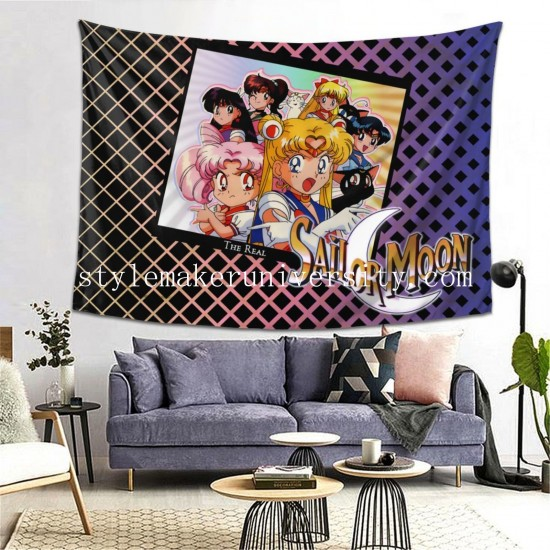 Tapestry Sailor Moon Living room Decor Wall Hanging Tapestry For Bedroom Tapestries 80*60 Inch(pp20210327)