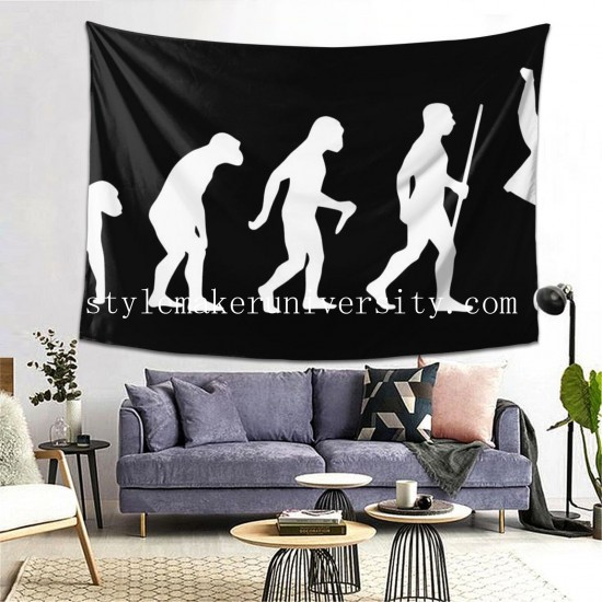Tapestry Elvis Evolution game room Decor Wall Hanging Tapestry For Bedroom Tapestries 80*60 Inch(pp20210327)