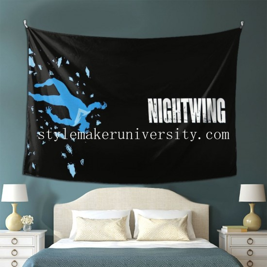 Tapestry Nightwing game room Decor Wall Hanging Tapestry For Bedroom Tapestries 80*60 Inch(pp20210327)