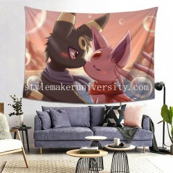 Tapestry Eeveelutions Espeon Kiss Pokémon Umbreon hall Decor Wall Hanging Tapestry For Bedroom Tapestries 80*60 Inch(pp20210327)
