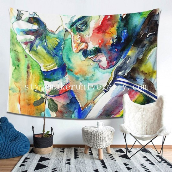 Tapestry Freddie Mercury With Cigarette Living room Decor Wall Hanging Tapestry For Bedroom Tapestries 80*60 Inch(pp20210327)